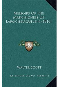 Memoirs of the Marchioness de Larochejaquelein (1816)