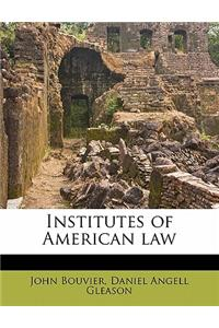 Institutes of American Law