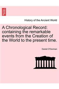 Chronological Record