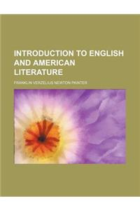 Introduction to English and American Literature