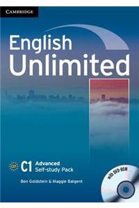 English Unlimited Advanced Self-study Pack (workbook with DV