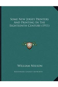 Some New Jersey Printers and Printing in the Eighteenth Century (1911)