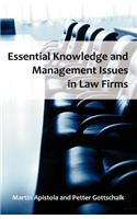 Essential Knowledge and Management Issues in Law Firms