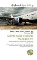 Maintenance Resource Management