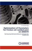 Optimization of Parameters for Friction Stir Welded Joint on Aa6070