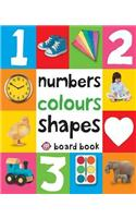 Numbers, Colours, Shapes.