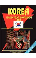 Korea South Foreign Policy and Government Guide