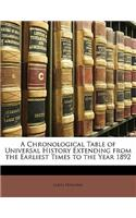 A Chronological Table of Universal History Extending from the Earliest Times to the Year 1892