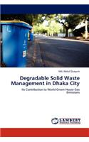 Degradable Solid Waste Management in Dhaka City