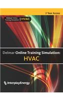 Delmar Online Training Simulation: HVAC Printed Access Code Card