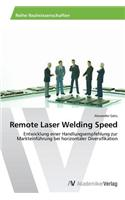 Remote Laser Welding Speed