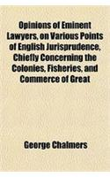 Opinions of Eminent Lawyers, on Various Points of English Jurisprudence, Chiefly Concerning the Colonies, Fisheries, and Commerce of Great Britain (Vo