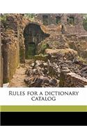 Rules for a Dictionary Catalog