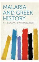 Malaria and Greek History