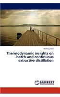Thermodynamic Insights on Batch and Continuous Extractive Distillation