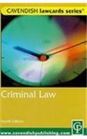 Criminal Lawcards