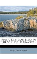 Public Debts: An Essay in the Science of Finance...