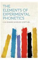 The Elements of Experimental Phonetics