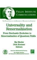 Universality and Renormalization