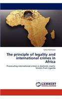 Principle of Legality and International Crimes in Africa