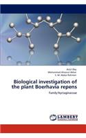 Biological Investigation of the Plant Boerhavia Repens