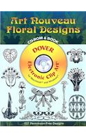 Art Nouveau Floral Designs [With CD-ROM]