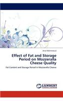 Effect of Fat and Storage Period on Mozzeralla Cheese Quality
